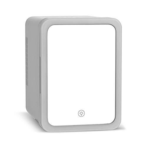 DFJU Mini refrigerador, gabinete de Almacenamiento de cosméticos, Compacto y portátil, con luz LED, Material Seguro, Utilizado para almacenar cosméticos y Alimentos, 4L