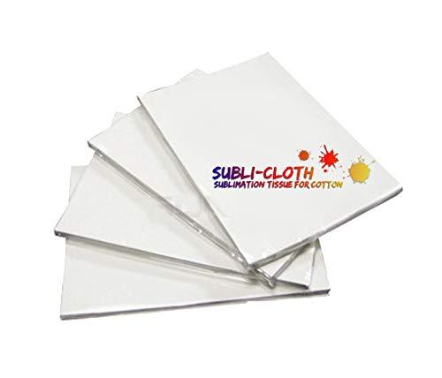 Subli-Cloth Sublimación sobre Algodón Tela para sublimar - Paquete x 20 Hojas A4.