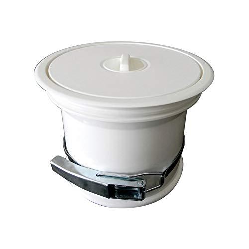 Vide-ordures pour plan de travail avec couvercle en pvc - Décor : Blanc - ITAR