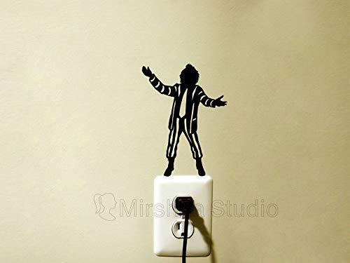 Beetlejuice Fabric Wall Sticker - Tim Burton Macbook Decal - Movie Laptop Sticker - Movie Lover Gifts - Gothic Home Decor - Film Wall Art