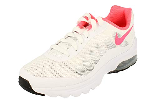 Nike Air Max Invigor GS Running Trainers 749575 Sneakers Schuhe (UK 3 US 3.5Y EU 35.5, White hot Punch Black 103)
