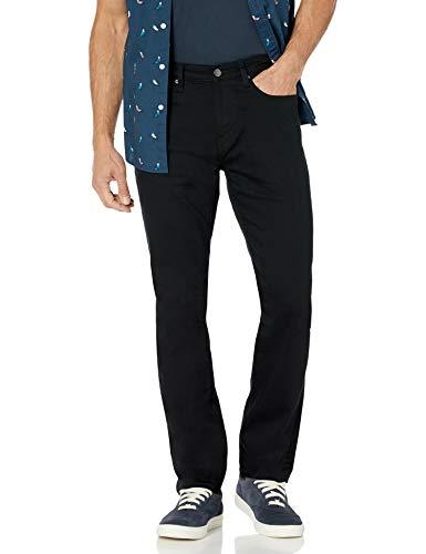 Amazon Essentials - Jeans elasticizzati da uomo, vestibilità atletica, Nero (Black), W36 x L32