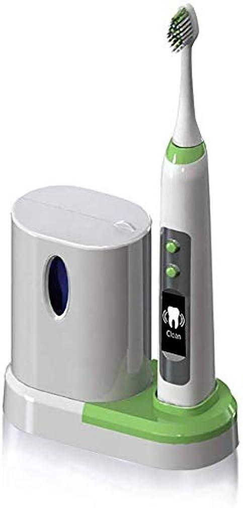 最悪耐えられるインサートUV殺菌、LCD画面、誘導充電、5つのスマートモード、3つの歯ブラシヘッド-5と、電動歯ブラシ音波洗浄を白く Alysays (Color : 4)