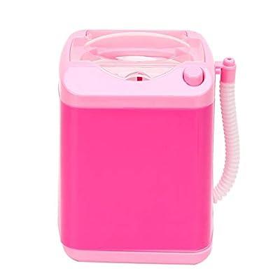 Uxsiya Electric Mini Washing Machine Automatic Makeup Brush Cleaner Children Toy Mini Washing Machines for Makeup Sponges(Pink)