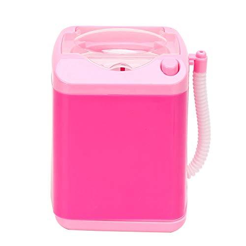 Uxsiya Mini Lavadora eléctrica Cepillo de Maquillaje automático Limpiador de Juguete para niños Mini lavadoras para esponjas de Maquillaje(Rosado)