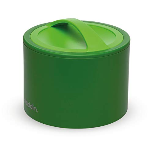 Aladdin Bento Lunch Box 0.6 L Green – Garde Chaud ou froid 5 Heures - Isolation à double paroi - Couvercle étanche - Sans BPA - Va au Lave-Vaisselle et au micro-ondes