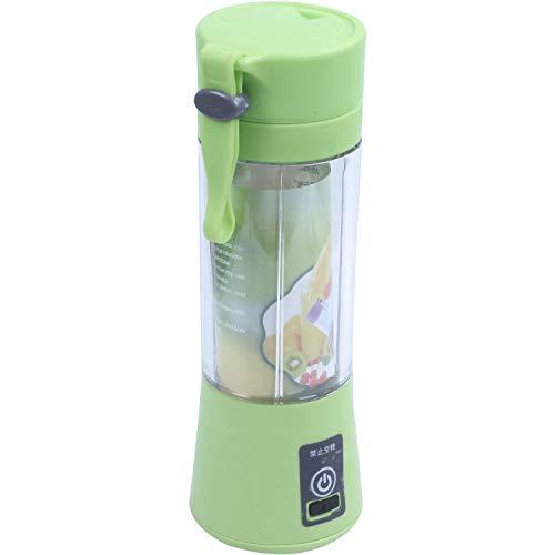 Andifany 380ml USB aufladbare Saftpresse Flasche Tasse Saft Citrus Mixer Zitrone Gemuese Obst Milchshake EIS-Sand-Schrott Reibahlen Flasche Gruen
