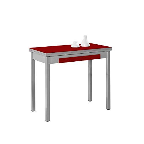 ASTIMESA Mesa de Cocina Tipo Libro Rojo 50x90cm