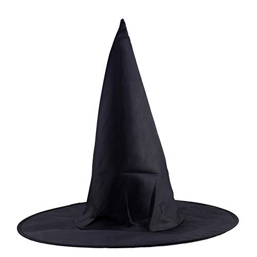 Boylee - Sombrero de bruja para Halloween, color negro