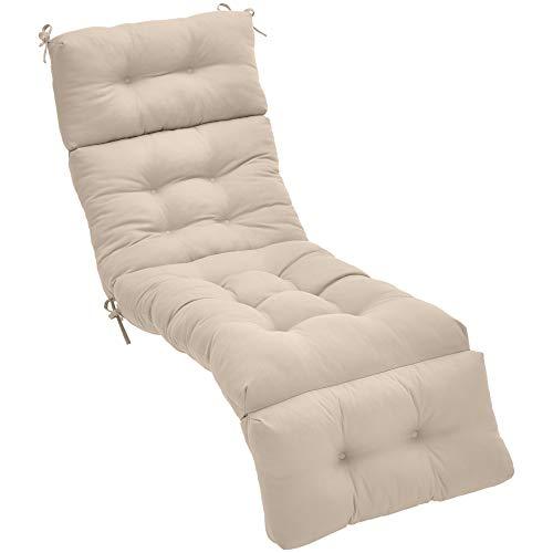 AmazonBasics Tufted Outdoor Lounger Patio Cushion - Khaki