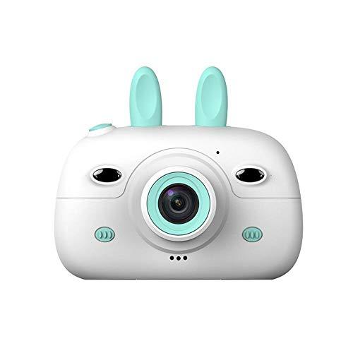 LayOPO Toy Vlog Camera, 1080P Auto Focus 2.4 '' Pantalla IPS Cámara A Prueba De Golpes para Niños Cámara Recargable Kawaii Rabbitt Videocámara Gran Regalo para Niños Y Niñas (Tarjeta 32G TF Incluida)