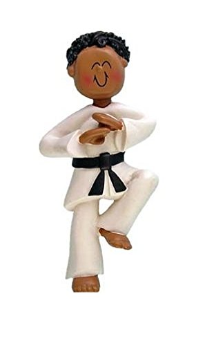 Ornament Central OC-024-MAA Male Karate African-American Christmas Ornament, 3-1/2-Inch