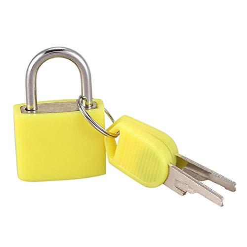 23mm Neon farbige Kunststoff beschichtet Messing Vorhängeschloss Reisegepäck Vorhängeschlösser Lock-Gold