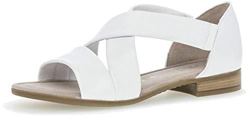 Gabor Mujer Sandalias de Vestir, señora Sandalia con Tiras, Sandalias con Correa,Zapatos de Verano,cómodo,Confort,Plana,Weiss,40.5 EU / 7 UK