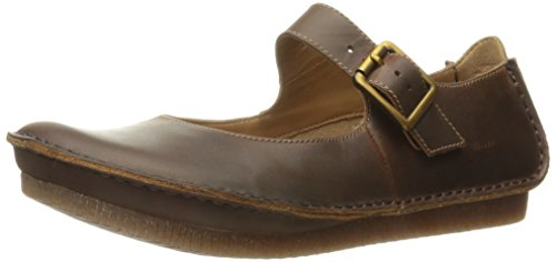 Clarks Women's Janey June Mary Jane Flat, Beeswax Leather, 7 M US