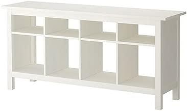 Ikea Hemnes Sofa Table White Satin Solid Pine
