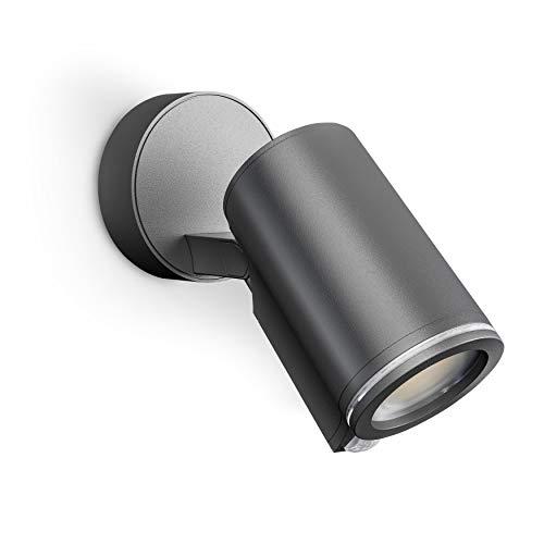 Steinel Strahler Spot ONE S 90° Bewegungsmelder, inkl. LED GU10-Leuchtmittel, per Kabel vernetzbar, Aluminium, 7 W, Anthrazit