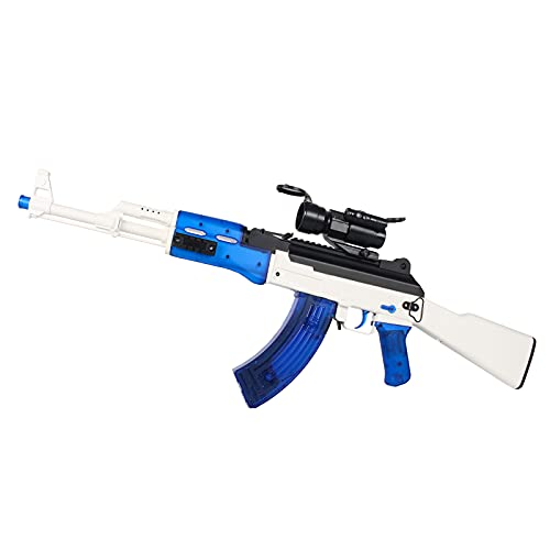 Anstoy AKM-47 Gel Ball Blaster MilSim Suitable for Adults Over 18 Years Old (Blue)