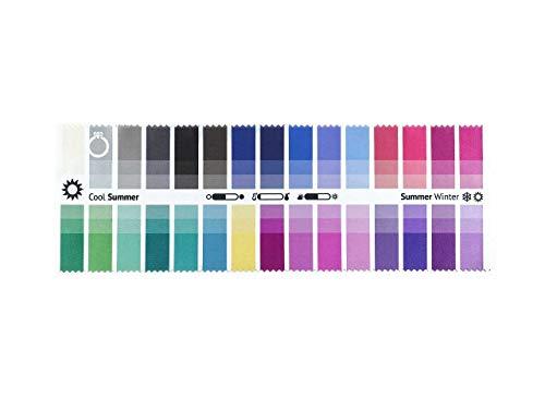 Stoff-Farbpass Sommer-Winter (Cool Summer) mit 30 typgerechten Farben zur Farbanalyse, Farbberatung, Stilberatung