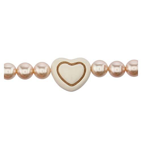 THUN ® - BraccialeOld classic lamour con cuore bianco