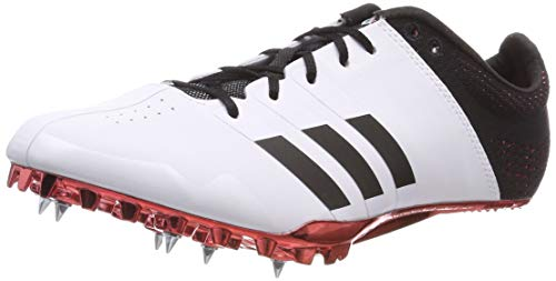 adidas Adizero Finesse, Scarpe da Atletica Leggera Unisex Adulto, Bianco (Ftwr White/Core Black/Shock Red Ftwr White/Core Black/Shock Red), 44 EU