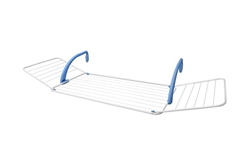 Gimi Brezza 200 Tendedero de balcón de Acero y Resina, 18 m de Longitud de tendido, azul, blanco, exterior