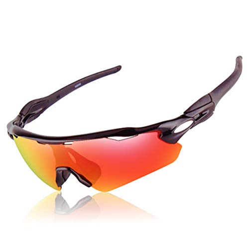 Sports Polarized Riding Running Sunglasses Changeable Lenses for Baseball Driving Fishing Golf...
