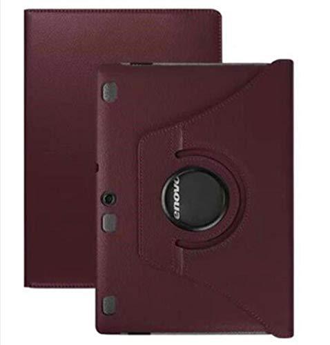 Für Lenovo Tab 2 A10 70 10.1 Tablet-Hüllen 360 Drehen für Lenovo A10-70 A10-70L A10-70F Stand PU Lederschutz Funda Cover-Braun