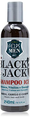 Men Black Jack Shampoo Ice 240 ml, Felps, 240ml