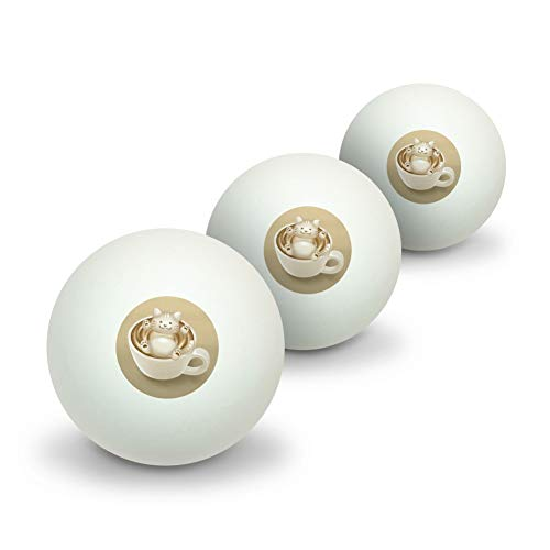 Lowest Price! GRAPHICS & MORE Foamy Cat Latte Art Novelty Table Tennis Ping Pong Ball 3 Pack