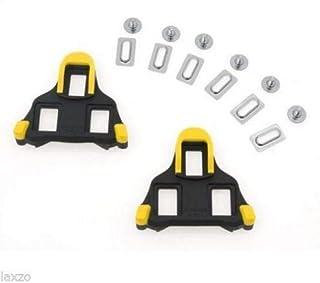 2 PCs Road Bike Bicycle Self-Locking Pedal Cleats Set for Shimano SM-SH11 SPD-SL Yellow