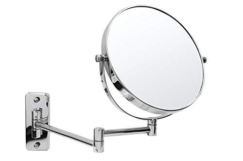 RIDDER 03104100 Maquillage, cosmétique, Miroir de Rasage, Métal, chromé, env. 23,5 x 31,5 cm