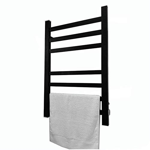 Towel Warmer, Electric Towel Warmer with Thermostat, Electric Heated Towel Rail, Spray Stainless Steel Electric Towel Rack