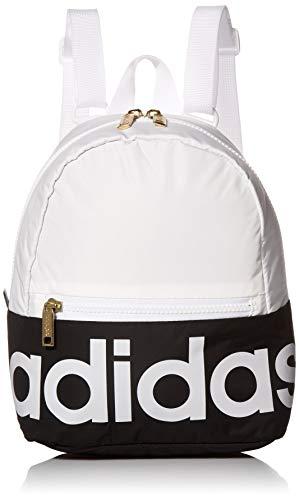 adidas Originals Linear Mini-Rucksack für Erwachsene, Unisex-Erwachsene, Linear, Mini-Rucksack, Linear Mini Backpack, Weiß/Schwarz/Gold, Einheitsgröße
