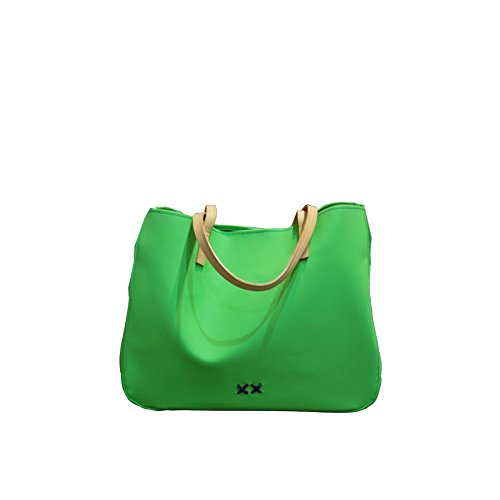 Borsa Donna Shopping Francine Gommosa Filo Blu | Cross Concept File Rouge | FR01SPALM LI/2316-Lime