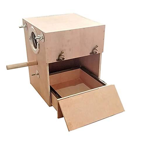 YINGZI Jaula Periquito Nido Caja Pájaro Casa Cajón Vertical Loro Caja de Cría Pájaro Casa Madera Caja de Cría Loros Caja de Apareamiento Hacer y Decorar (tamaño : Right H30cm)