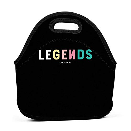 Legends No-Rris Nuts 1 Lunch Bag Neoprene Portable Insulated Reusable Leakproof Lunch Box Tote for Outdoor Travel Picnic Work