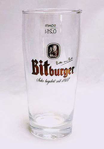 Bitburger 0,25l Glas/Bierglas/Biergläser/Gläser/Bier/Gastro/Bar/Sammler/Sammel / 1 Stück