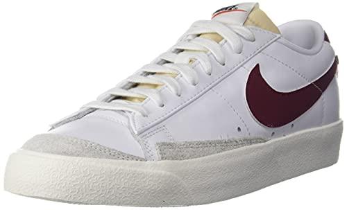 Nike Blazer Low '77 Vintage Casual Zapato DA6364-102, Blanco/Team Red-White-Sail, 41 EU