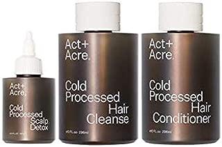 Act+Acre: The Essentials Bundle; Cold Processed Cleanse 10 fl oz, Conditioner 10 fl oz, Scalp Detox 3.4 fl oz