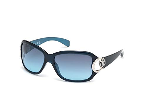 Just Cavalli JC202S 90W 62 Gafas de sol, Azul (Blu Luc/Blu Grad), Mujer