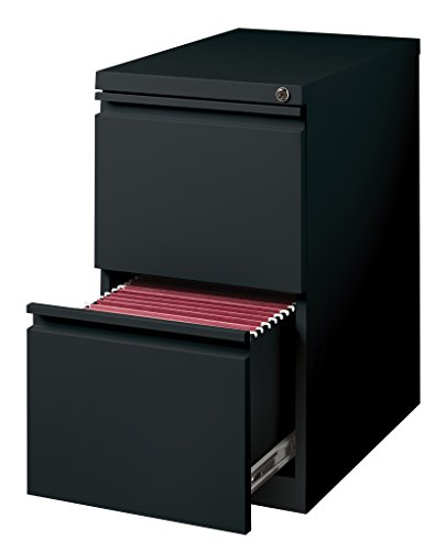 Hirsh Industries 20' Deep File/File Mobile Pedestal, Black, 18578