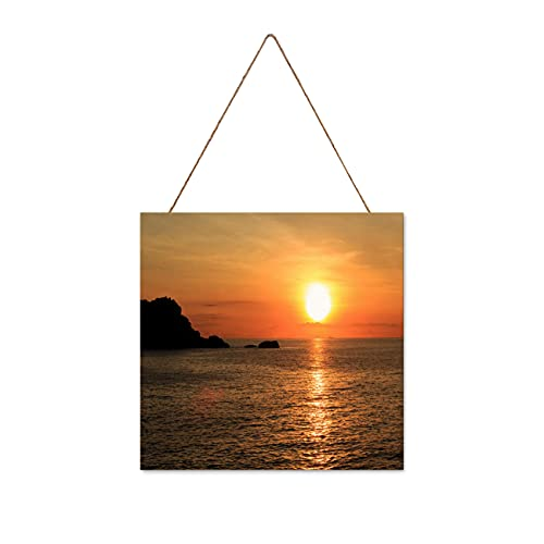 Wall Art Wall Decor Wall Painting Sunrise Over Pacific Ocean In Vietnam S East Pole Wall Art For Living Room Bedroom Decoration 9.8x9.8in