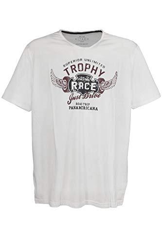 Kitaro Men Tshirt V 1/2, Offwhite, Offwhite((610)), Gr. 5XL