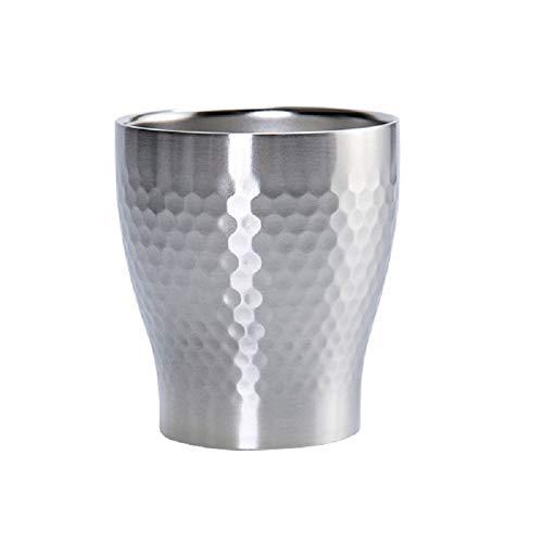 Susulv Vakuum Weinglas Im japanischen Stil Teacup Double-Layer-Edelstahl-Wasser-Cup Anti-Tropfen Und Wind Open Cup Isolierung kalte sicher geöffnete Bier-Isolierung Vakuumisolierte Trinkbecher