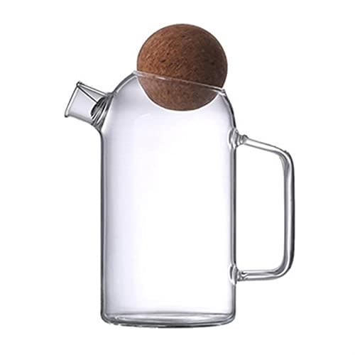 Jarra agua 1 unid botella de agua asa de agua tetera de agua tetera de corcho de vidrio tetal tetera gruesa vidrio tetera jugo jarra jarra jarra jarra de té para uso en el hogar ( Color : 20X14X14CM )