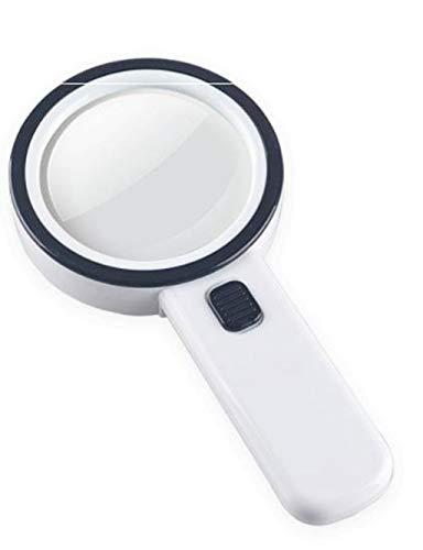 Vergrootglas lezen Hand-held vergrootglas, optische glazen lens met LED en UV-lampen for Reading, Inspectie, Lassen, handwerk, Reparatie, Hobby en Ambacht op Bekijk kaart