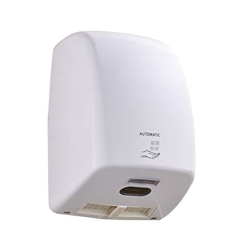 BTSSA Secador De Manos Automático 1000 W Léctrico Secador Manos De Aire Caliente Inducción Inteligente Secador Manos para Hoteles,Casas, Oficinas