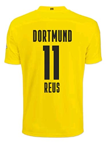 LISIMKEM 2020-2021 Men's Home Soccer Jersey/Short Colour Yellow (Dortmund Reus #11 (M))