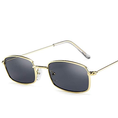 NZHK 1PCs Unisex Retro pequeñas Sombras del rectángulo Gafas de Sol UV400 Marco Colorido del Metal Lente Clara Eyewear Gafas de Sol Gafas Hombres Mujeres Gafas de Sol polarizadas (Color : D)